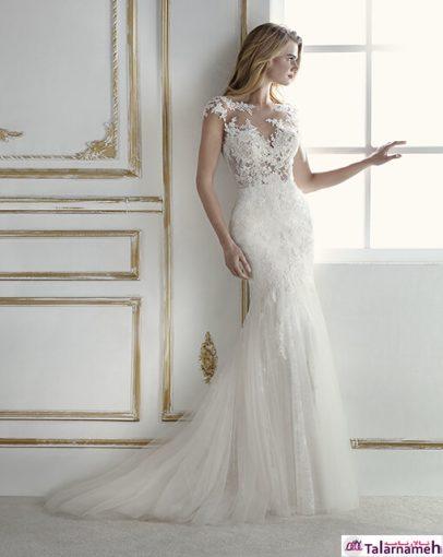این مدل، یکی از خاصترین مدل های لباس عروس برای عروس خانم های بسیار حساس می باشد. یک لباس رویایی که به نظر بیننده مانند یک لایه پوست، بر روی بدن کشیده شده است. این لباس دارای یک دنباله می باشد که می تواند از آن جدا شود.