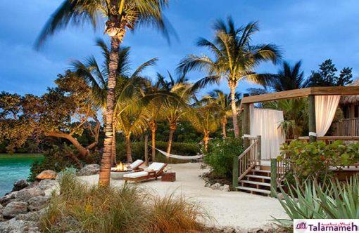 تالار پذیرایی در جزیره کوچک در غرب فلوریدا