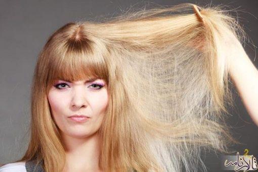درمان موهای آسیب دیده و شکسته شده