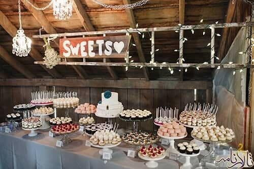 شیرینی عروسی - 10 مدل کاپ کیک عروسی