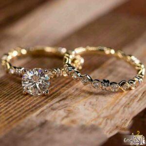 حلقه و پشت حلقه طلا