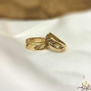 حلقه ست طلا پایه جواهر