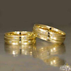 حلقه ست طلا نگین اتمی